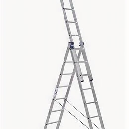 Лестницы и стремянки - Лестницы секционные Elkop Лестница алюминиевая трехсекционная 7 ступеней 3х19..., 0