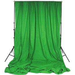 Фоны - Фон тканевый B-110 (300х600см) зелёный , 0