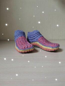 Колготки и носки - Вязаные женские следки с узором (ручной работы) , 0