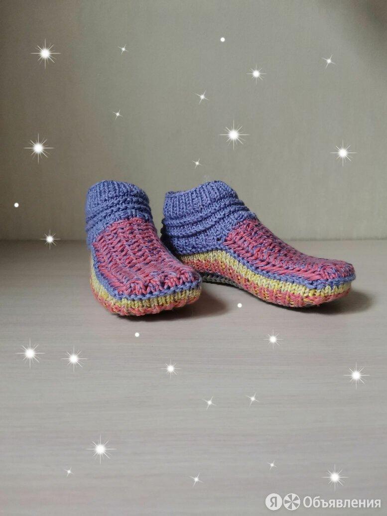 Вязаные женские следки с узором (ручной работы)  по цене 500₽ - Колготки и носки, фото 0