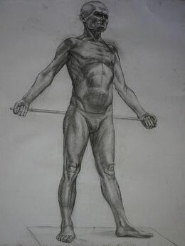 """Картины, постеры, гобелены, панно - Рисунок на бумаге углем """"Стоячий мужчина"""", 0"""