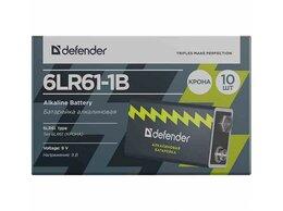 Батарейки - Батарейка алкалиновая Defender 6LR61-1B крона в бл, 0