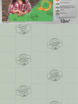 Подложка - Подложка листовая Солид под LVT 1000х500х2 мм, 0