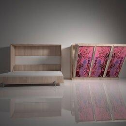 Кровати - Подъемная двуспальная кровать в шкафу 160х200. Взрослая с фотопечатью Ф-6, 0