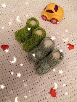 Носки - Вязаные пинетки (ручная работа) , 0