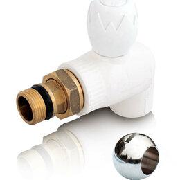 Аксессуары для радиаторов - S+P Кран шаровый угловой для радиатора Blue Ocean – 25х3/4 (40 шт/кор), 0