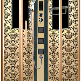 Комплектующие - Душевая кабина Niagara Lux 7717G золото, 0