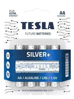 Батарейки - Батарейки Tesla SILVER AA+4ks Alkaline AA (LR06, п, 0