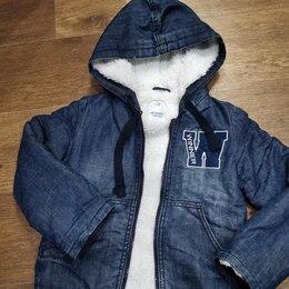 Куртки и пуховики - Джинсовая куртка р. 110, 0