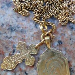 Кулоны и подвески - Золотой нательный образ Божiей Матери Игоревская., 0