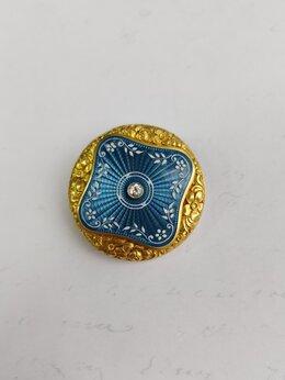 Броши - Винтажная золотая брошь с бриллиантом, 0
