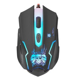Мыши - Мышь Defender SKULL GM-180L черный + коврик, 0