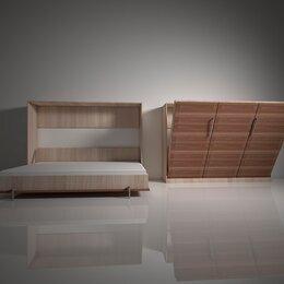 Кровати - Шкаф-кровать с подъемным механизмом трансформер горизонтального подъема вс.2, 0