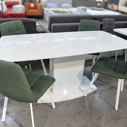 Столы и столики - Белый стол Brilliant на одной ноге, 0