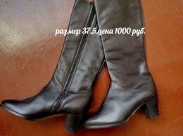 Сапоги - Демисезонные кожаные сапоги. , 0