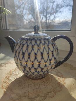 Заварочные чайники - Заварочный чайник ЛФЗ - Кобальтовая сетка, фарфор, 0