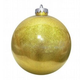 Новогодний декор и аксессуары - Шар праздничный 300мм, золотой, лакированный, 0