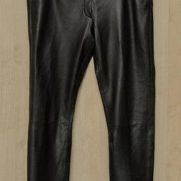 Брюки - Женские кожаные брюки-дудочки, 0