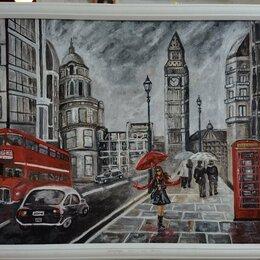 Картины, постеры, гобелены, панно - Лондон. Картина маслом, холст на ДВП 57х77 новая., 0