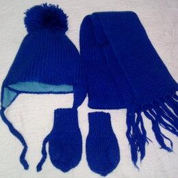 Головные уборы - Комплект - шапка, шарф, варежки, 0