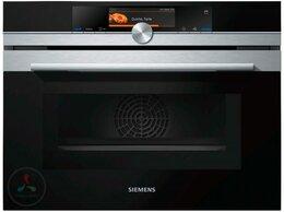 Духовые шкафы - Электрический духовой шкаф Siemens CN678G4S6, 0