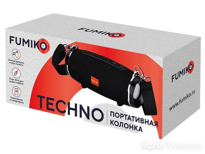 Портативная колонка FUMIKO TECHNO черная по цене 1390₽ - Портативная акустика, фото 0