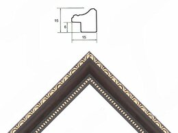 Фоторамки - Рамка 21*30 пластик Багет K1515BR /1/, 0