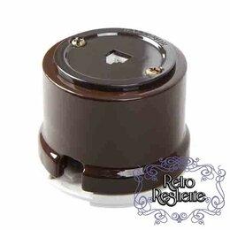 Электроустановочные изделия - Телефонная розетка коричневая, 0