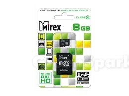 Карты памяти - Карта памяти MicroSD T-Flash Mirex 08 Gb Class…, 0