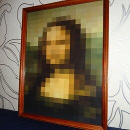 Картины, постеры, гобелены, панно - Концептуальная репродукция портрета Мона Лизы, 0