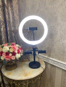Осветительное оборудование - Кольцевая лампа 26 см с 3мя держателями и штативом, 0