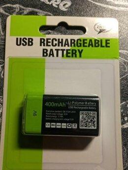 Аккумуляторы и зарядные устройства - usb аккумулятор крона 9V 400mAh, 0