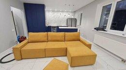 Диваны и кушетки - Модульный диван желтый велюровый, 0