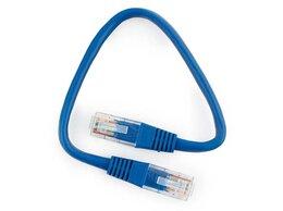 Кабели и разъемы - Патч-корд UTP Cablexpert PP10-0.25M/B кат.5e 0.25м, 0