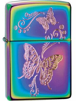 Пепельницы и зажигалки - Зажигалка Zippo Spectrum бабочки, 0