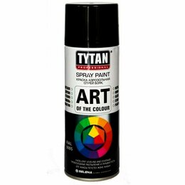 Краски - Краска аэрозольная черная глянец Tytan, 0
