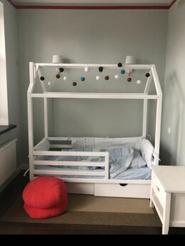 Кроватки - Кровать домик N7, 0