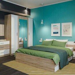 Кровати - Спальня Леси со шкафом сонома/белый, 0