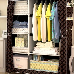 Шкафы, стенки, гарнитуры - Новый Шкаф для одежды складной каркасный тканевый, 0