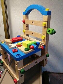 Конструкторы -  игрушка конструктор-стул деревянный красочный в…, 0