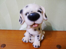 Статуэтки и фигурки - Фигурка щенка из керамики., 0