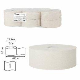 Туалетная бумага и полотенца - Бумага туалетная БОЛЬШОЙ ДИАМЕТР РУЛОНА, 450 м, VEIRO Professional (Система T..., 0