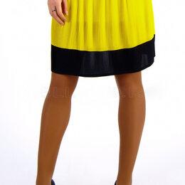 Юбки - Новая женская плиссированная юбка желтого цвета, 0