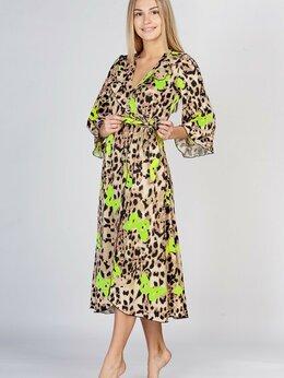 Домашняя одежда - халат-пеньюар новый длина миди, 0
