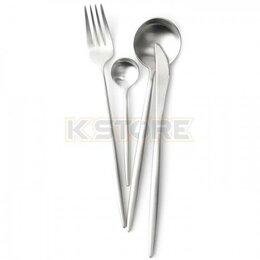 Столовые приборы - Набор столовых приборов Maison Maxx Stainless Steel Modern Flatware Set Silver, 0