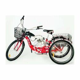 Велосипеды - Трёхколёсный грузовой мотовелосипед Стелс, 0
