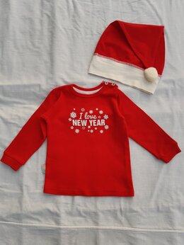 Футболки и рубашки - Новогодняя футболка лонгслив для малыша, 1 год, 0