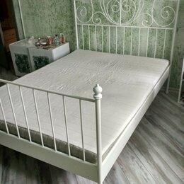 Кровати - Кровать белая 180х140 новая в заводской упаковке , 0