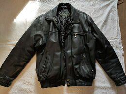 Куртки - Черная кожаная куртка мужская XXL 52-54, 0