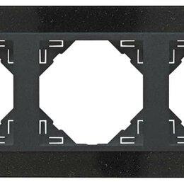 Фоторамки - 3-х местная рамка, натуральный гранит / серый, Efapel, 0